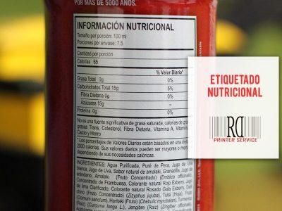 etiquetado nutricional rd printer service