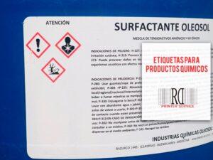 etiquetas productos quimicos rd printer service