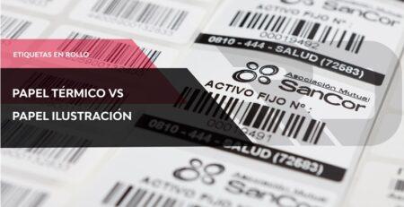Etiquetas térmicas vs etiquetas ilustración