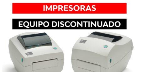 Impresora Zebra GC420t discontinuada
