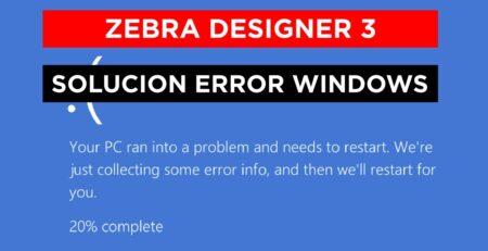 Error pantalla Azul ZebraDesigner