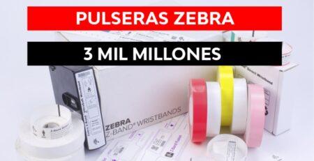 Se vendió la pulsera Zebra número 3 mil millones