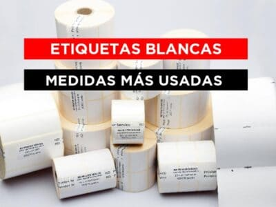 Etiquetas blancas para impresión térmica